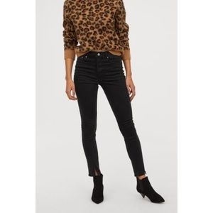H&M Washed Black High Rise Skinny Ankle Jeans